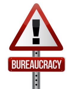 Bureaucracy Warning Sign