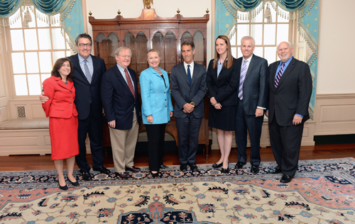 September 13, 2012. BBG Presiding Governor Michael Lynton led the Board's delegation to the State Department, which included Governors Victor Ashe, Dennis Mulhaupt, Susan McCue, and Michael Meehan, as well as Richard M. Lobo, Director of the International Broadcasting Bureau. Under Secretary of State Tara Sonenshine, the Secretary's representative to the BBG, took a leading role in framing the discussion.