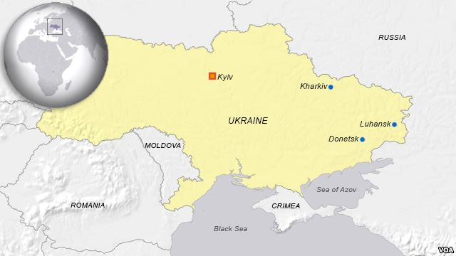 Voice of America map shows Crimea as no longer part of Ukraine, even though the U.S. Government, which funds VOA, does not recognize Crimea as being part of Russia or as a separate territory. The map was removed after protests from VOA Ukrainian Service and outside experts.