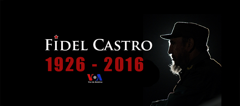 In 2016 Voice of America (VOA) produced this graphic to illustrate reports on Fidel Castro's death. It was used as the VOA Spanish Service Facebook Cover image.